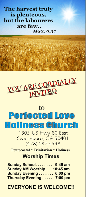 Welcome to Perfected Love Brochure