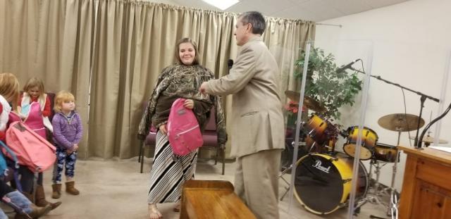 December Gift Backpacks to Kids 2017