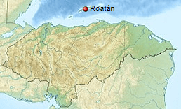 Roatán Island Location